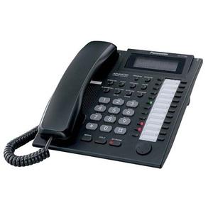 Panasonic KX-T7735RU-B (Аналоговый системный телефон с ЖК 24 клавиши, черный)