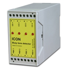Icon  BTD4A (4-канальный детектор отбоя с питанием от телефонной линии (отбой только разрывом шлейфа